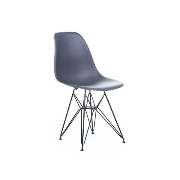 Grey Eames DSR Chair with black base