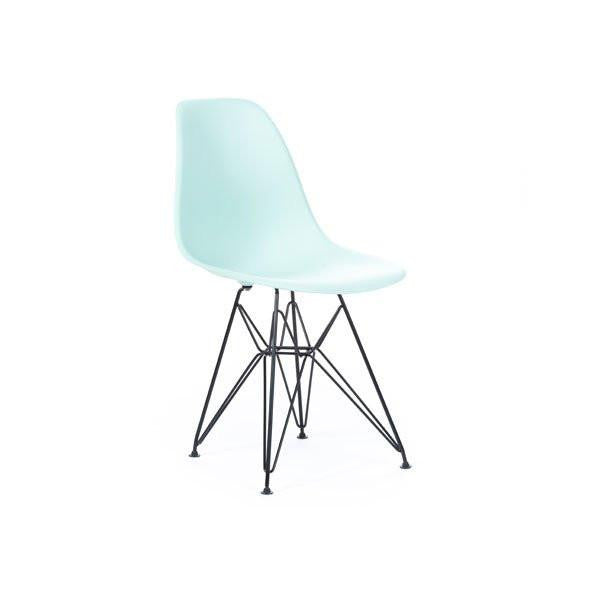 Light Turquoise Eames DSR Chair with black base