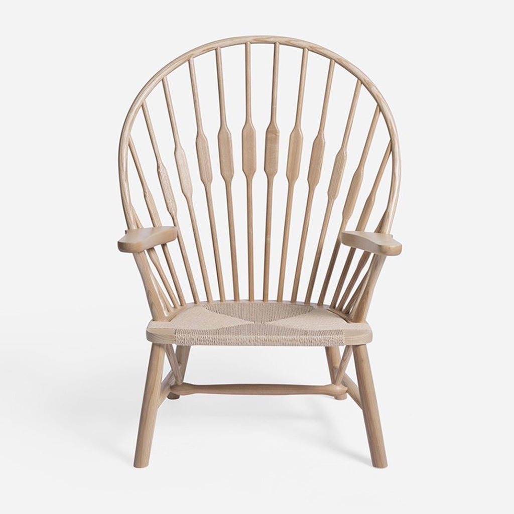 wegner peacock fan chair front