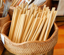 Load image into Gallery viewer, Natural Bamboo Straw Pack 100 - bamboo straws