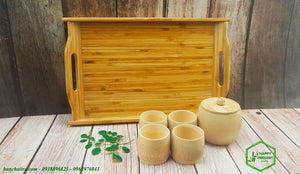 Bamboo Food Serving Tray - bamboo straws