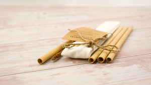 Natural Bamboo Straw Pack 300 - bamboo straws