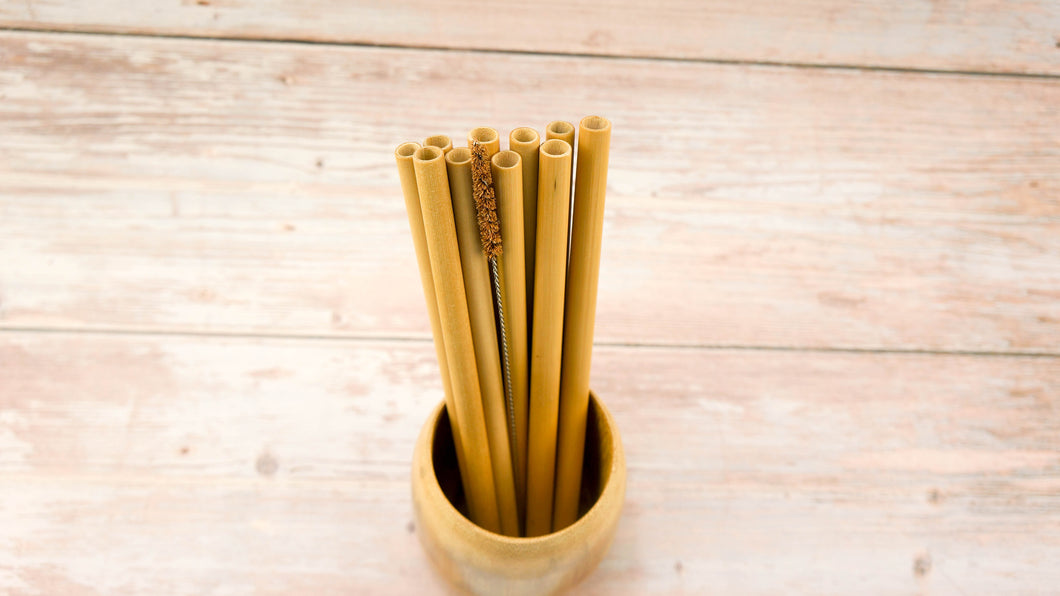 Natural Bamboo Straw Pack 1000 - bamboo straws