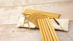 Reusable Straw - Bamboo Straw | Pack 10 ( With Natural Coconut Brush) - bamboo straws