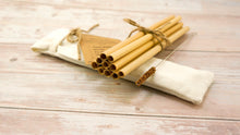 Load image into Gallery viewer, Natural Bamboo Straw Pack 200 - bamboo straws