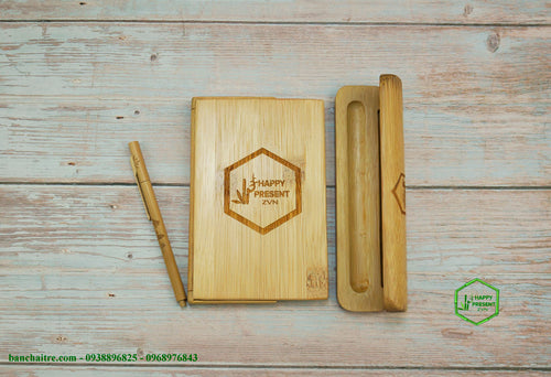 Bammboo Notebook - bamboo straws