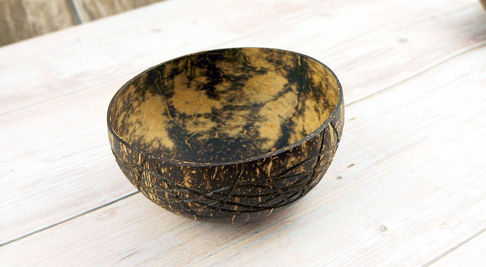 Natural Coconut Shell Bowl 18 - bamboo straws