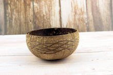Load image into Gallery viewer, Natural Coconut Shell Bowl 21 - bamboo straws