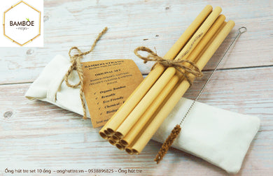 Natural Bamboo Straw Pack 50 - bamboo straws