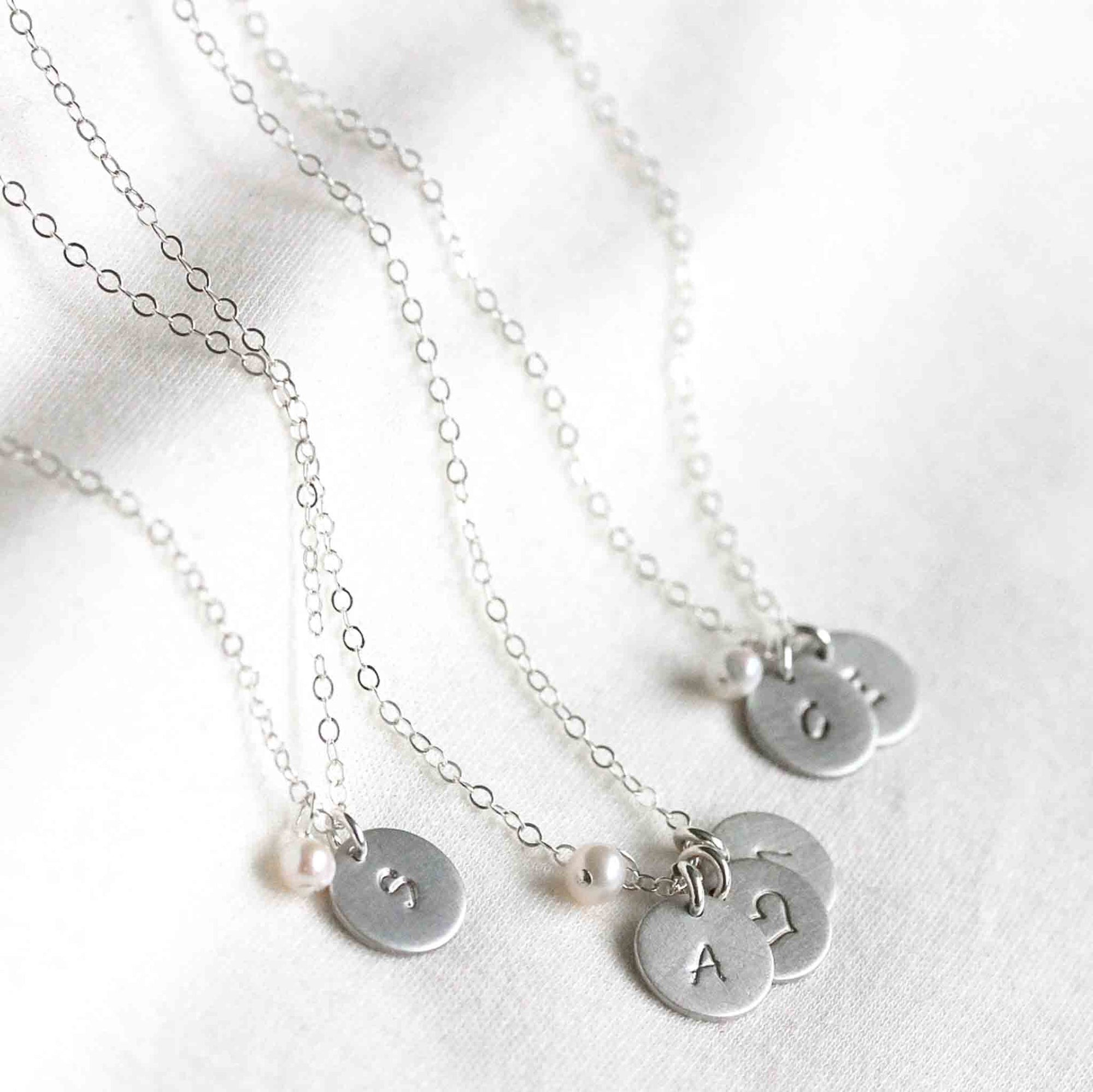 Initialkette 925 Sterling Silber mit Perle - Mayamberlin