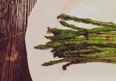 Balsamic Brown Butter Roasted Asparagus