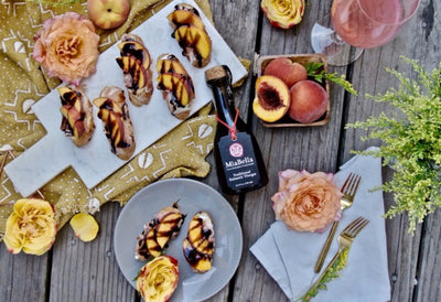 Balsamic Peach Canapes Recipe