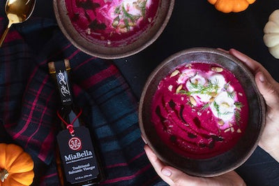 Balsamic Roasted Beet Soup