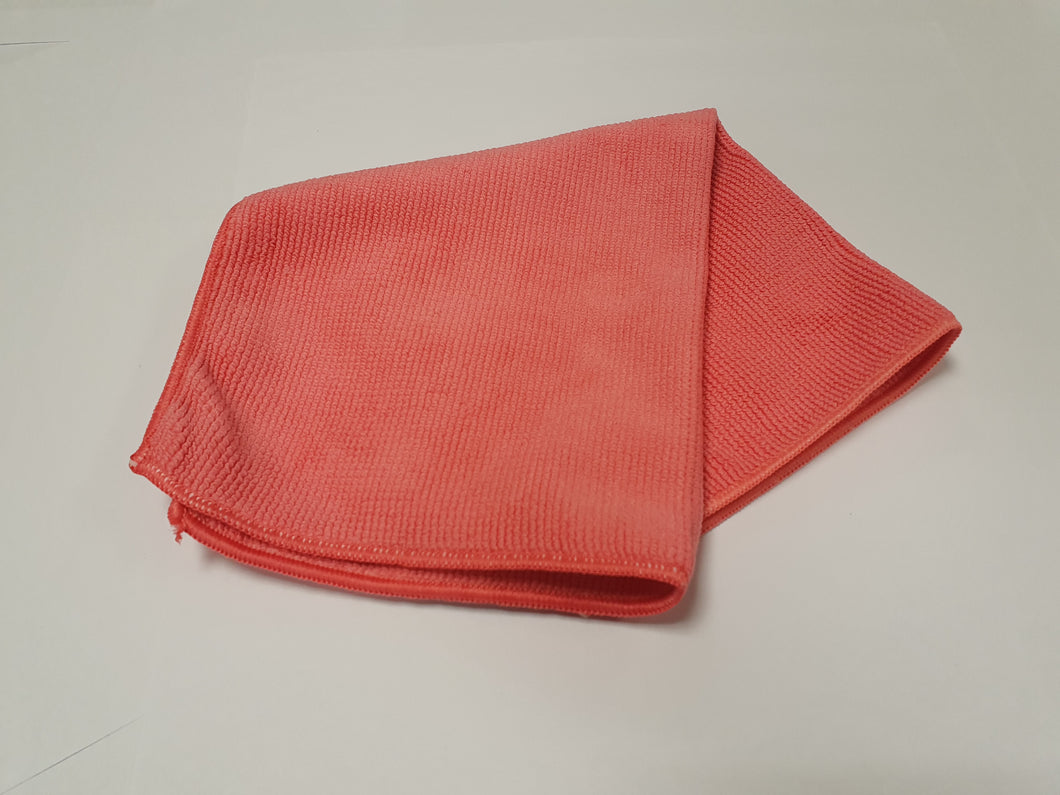 Pk5 Red  Hospital Grade Microfibre Cloth (32cmx32cm)