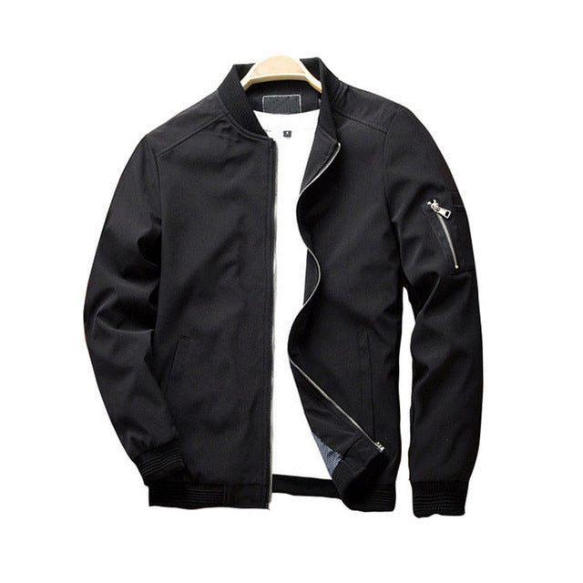 """SOLID ZIPPED"" JACKET"