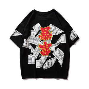 """BURNING MONEY"" T-SHIRT"