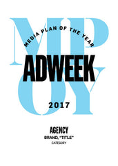2017 Adweek Media Plan of the Year Trophy