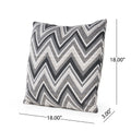 Dhani Outdoor Modern Sunbrella Throw Pillow (Set of 2)