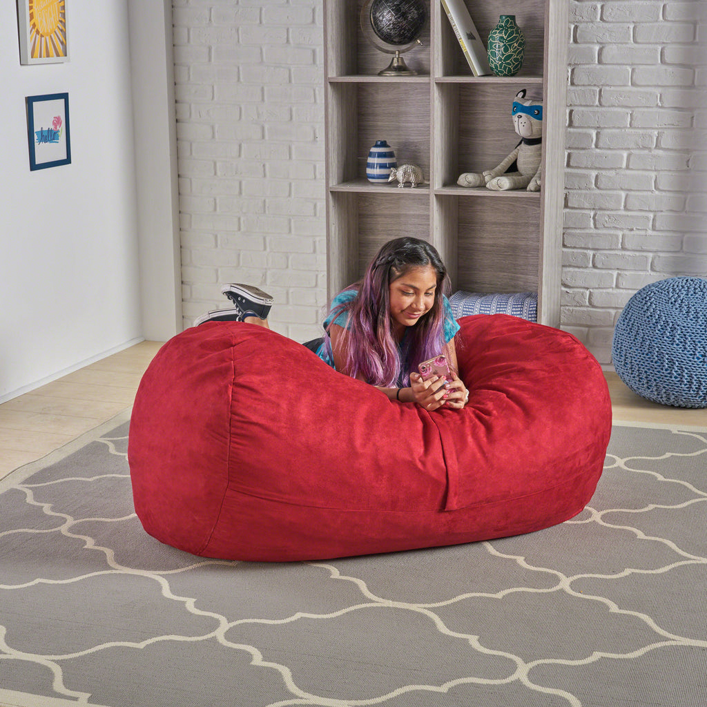 Wondrous Genevieve Traditional 4 Foot Suede Bean Bag Cover Only Cjindustries Chair Design For Home Cjindustriesco
