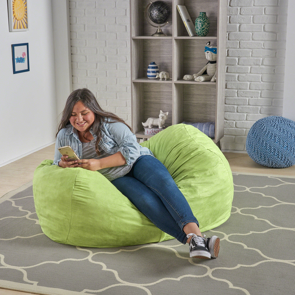 Fine Genevieve Traditional 4 Foot Suede Bean Bag Cover Only Cjindustries Chair Design For Home Cjindustriesco