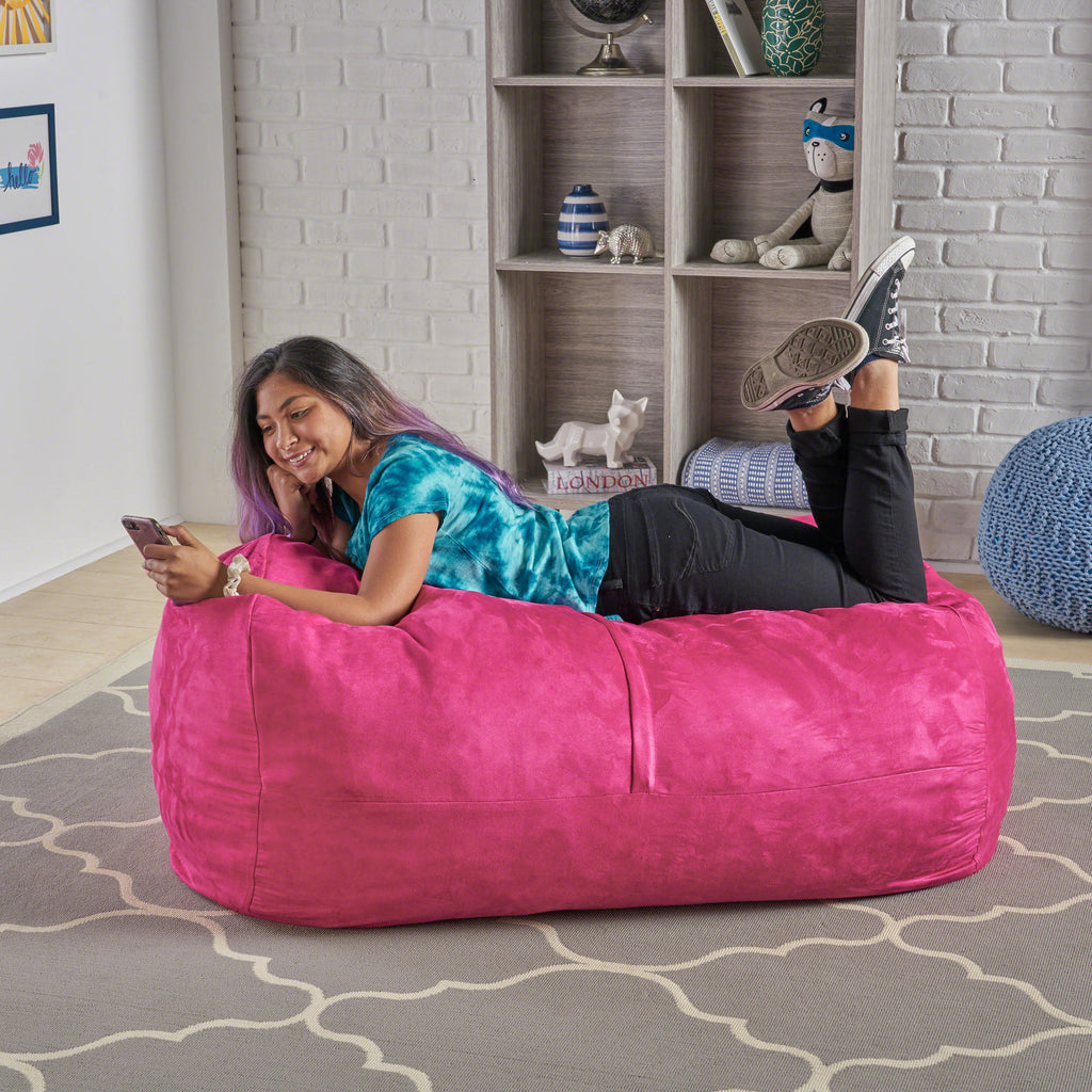 Peachy Genevieve Traditional 4 Foot Suede Bean Bag Cover Only Cjindustries Chair Design For Home Cjindustriesco