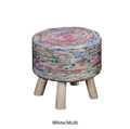 Silk Swirl Fabric Stool
