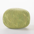Ash Outdoor Fabric Weave Pouf
