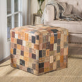 Kouture Artisan Jeans Label Patchwork Pouf