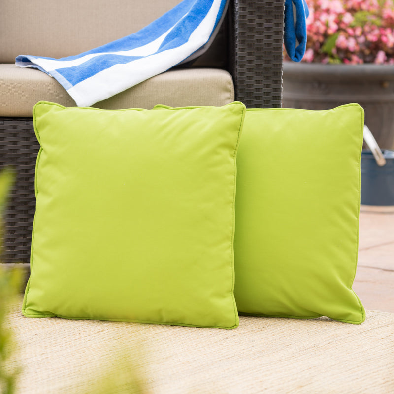 Corona Outdoor Square Water Resistant Pillow (Set of 2)