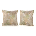 Corona Outdoor Square Tropical Water Resistant Pillow (Set of 2)