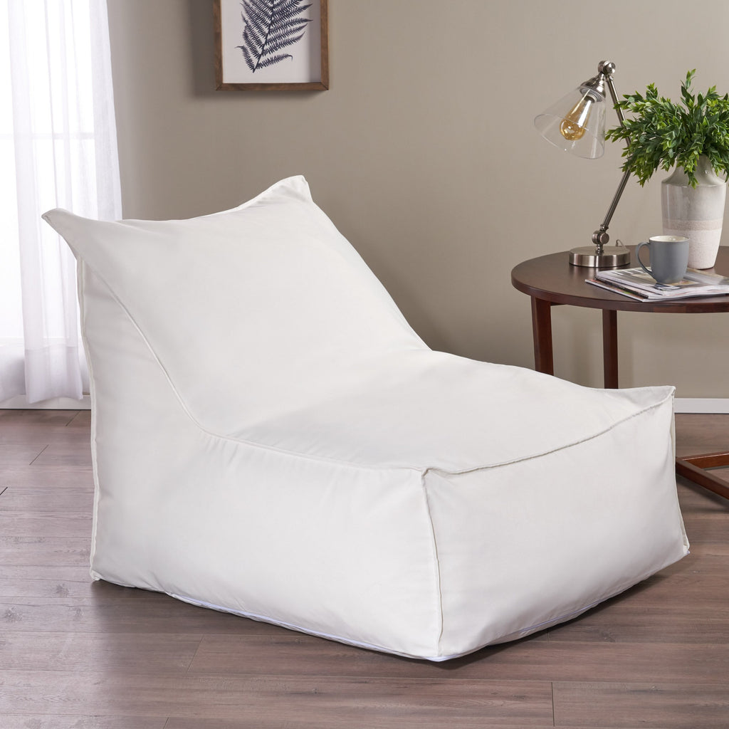 Mikayel 3 Ft Indoor Contemporary Water Resistant Fabric Bean Bag Chair