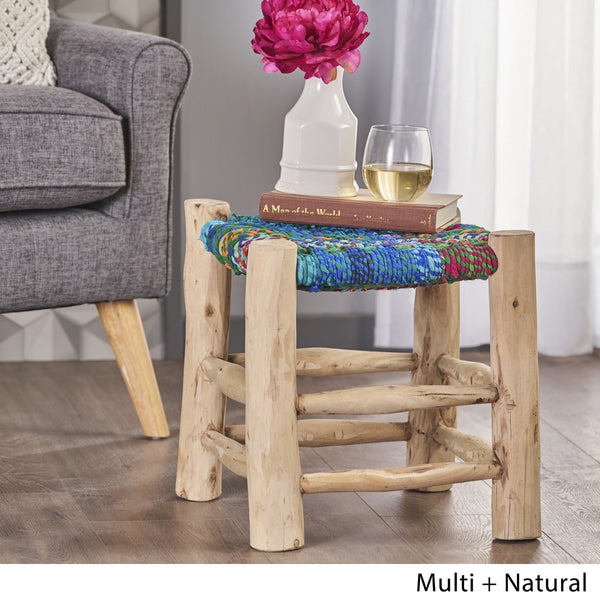 Sahara Recycled Cotton Stool