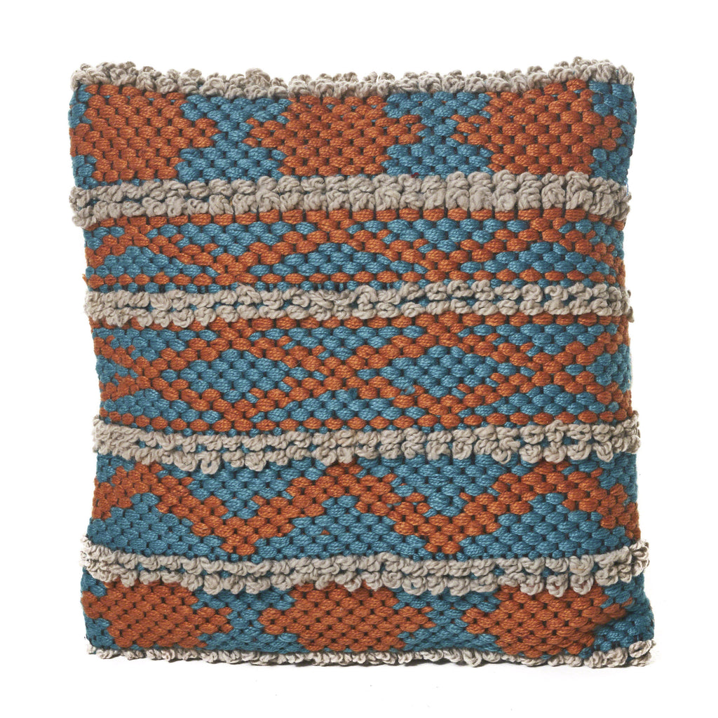 Julean Multi Colored Faux Yarn Pillow