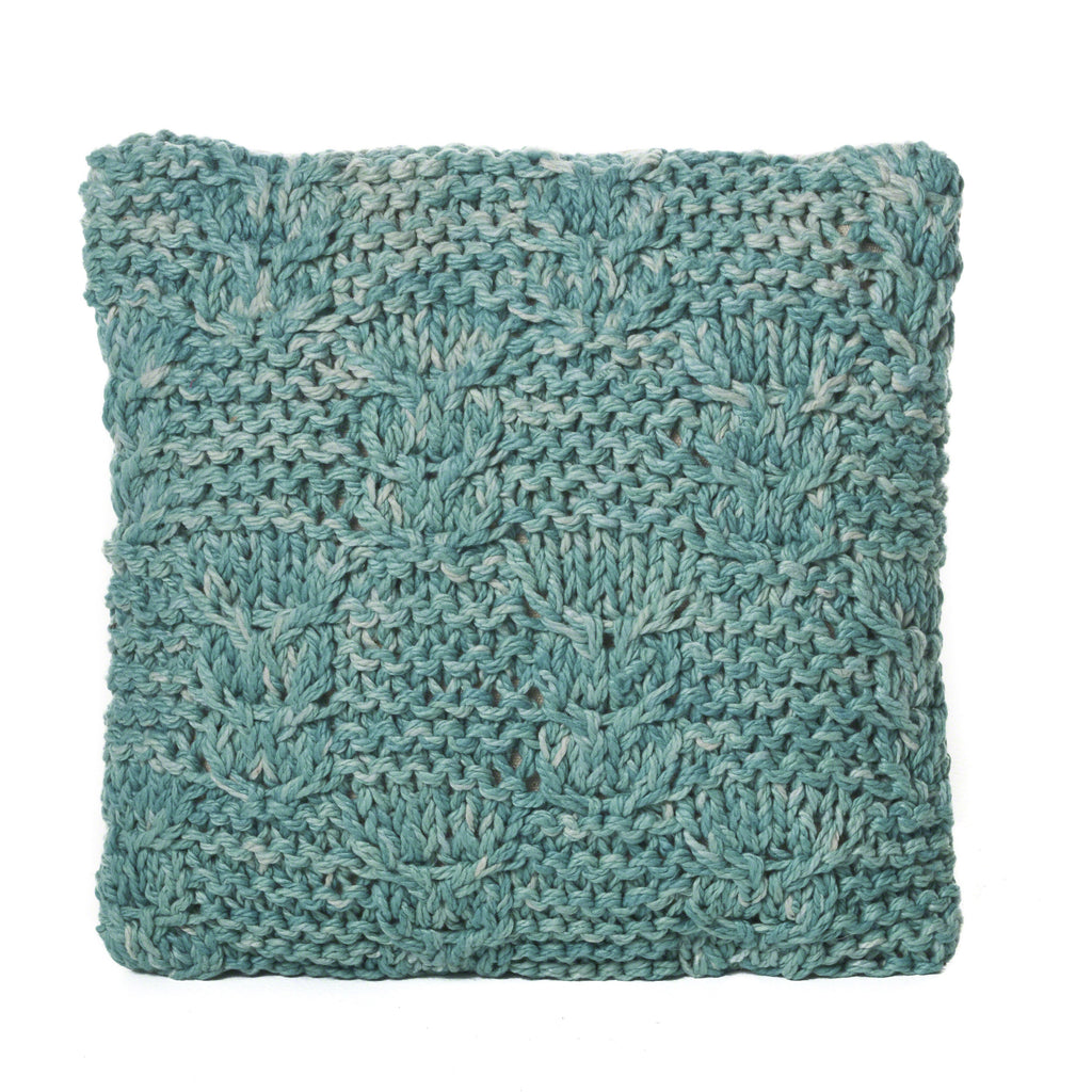 Beasley Blue Faux Yarn Pillow