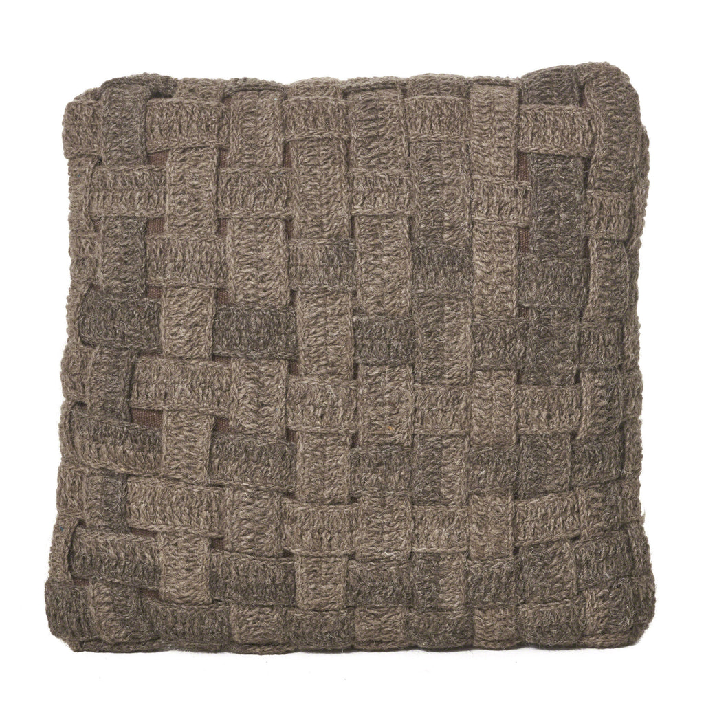 Limosa Natural Brown Wool Pillow