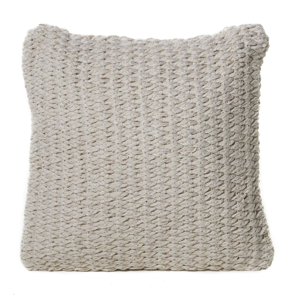 Dervilla Ivory Faux Yarn Pillow