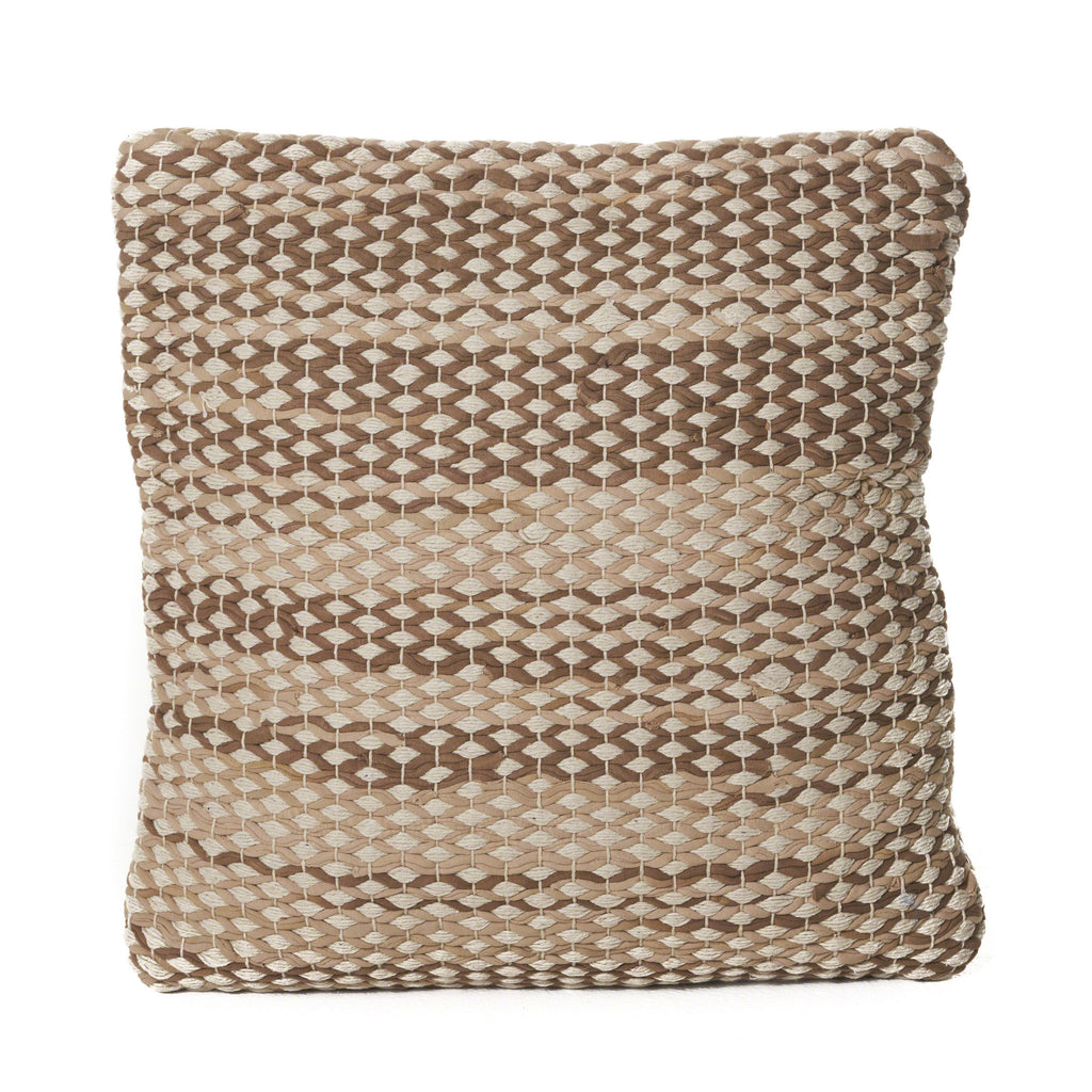 Mabel Beige Cotton Chindi Pillow