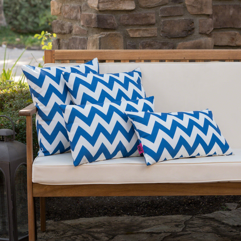 Embry Outdoor Water Resistant Square and Rectangular Throw Pillows (Set of 4)