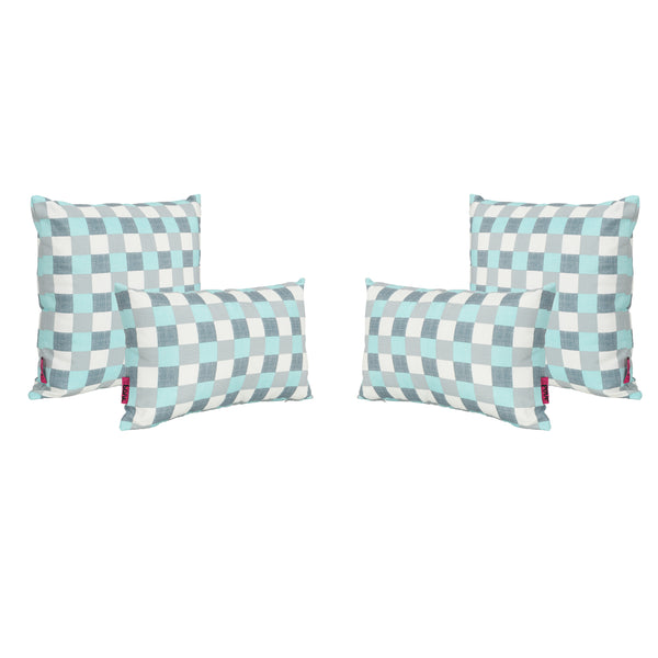 Pendry Outdoor Water Resistant Tasseled Square and Rectangular Throw Pillows (Set of 4)