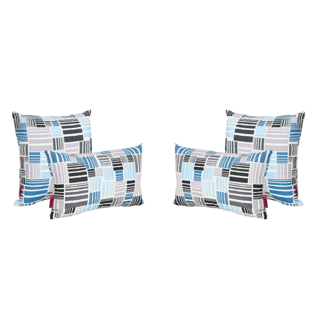 Moffet Outdoor Water Resistant Tasseled Square and Rectangular Throw Pillows (Set of 4)