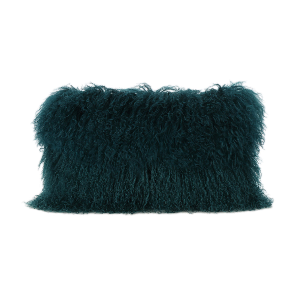 Zally Shaggy Lamb Fur Rectangular Pillow