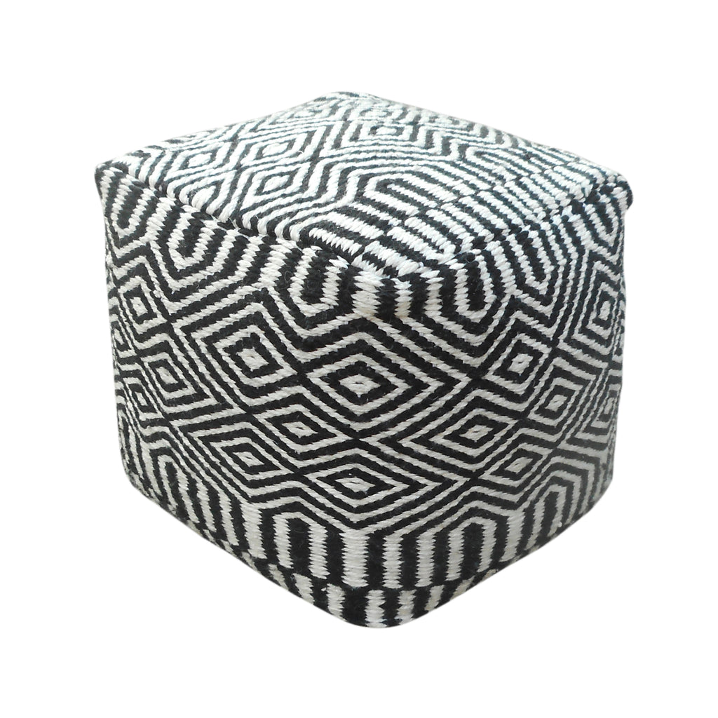 Merle Outdoor/Indoor Modern Boho Pouf