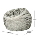Warrin Furry Glam Fur Bean Bag