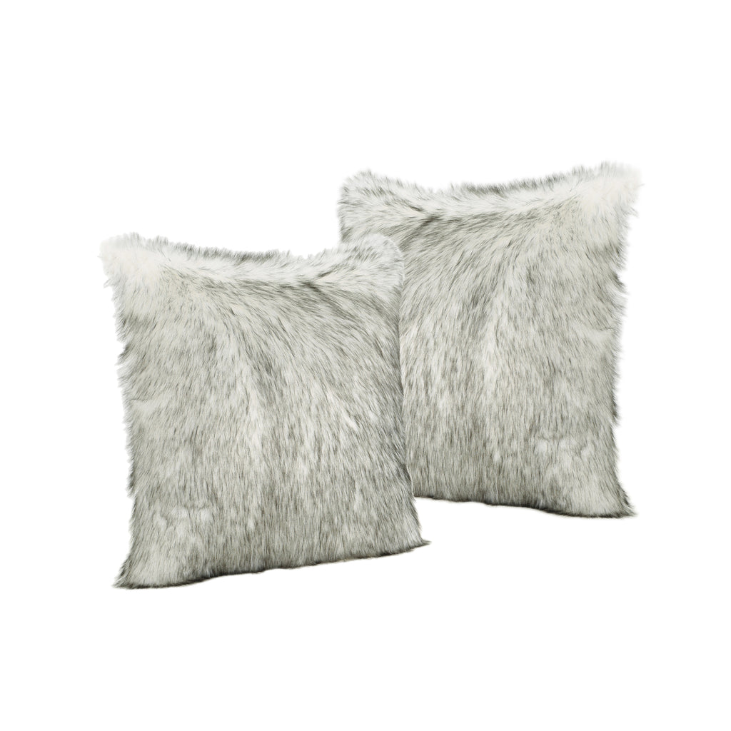 Laraine Furry Glam Faux Fur Throw Pillows (Set of 2)
