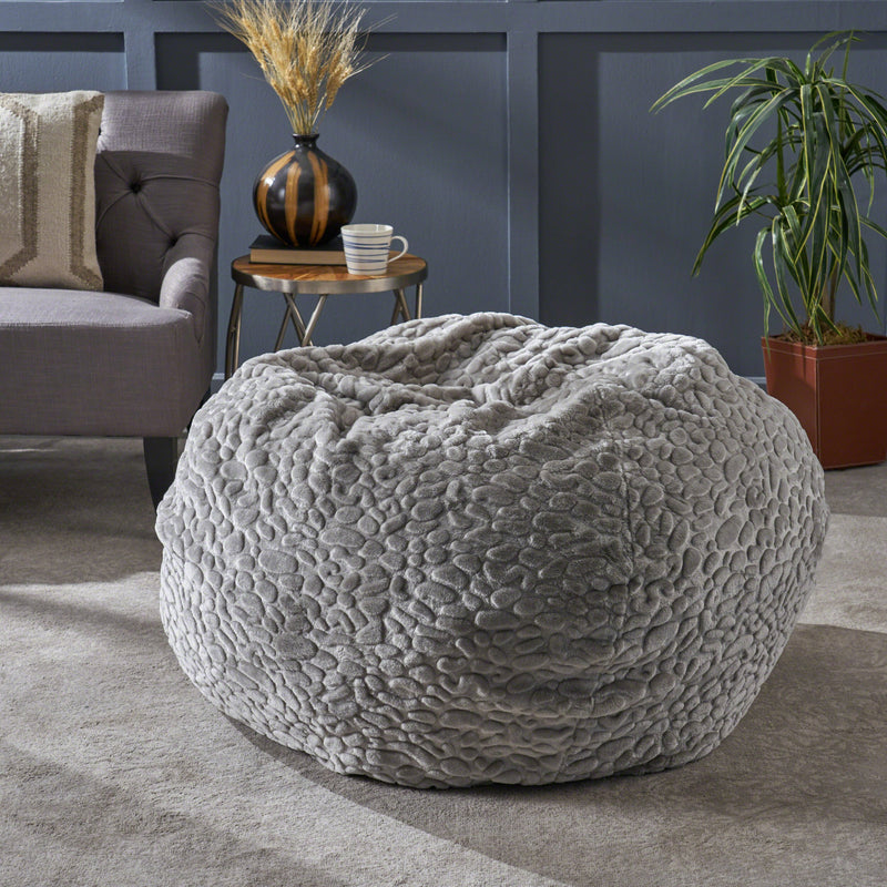 Edwardo Modern 3 Foot Faux Fur Bean Bag (Cover Only)