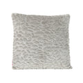 Laraine Furry Glam Grey Pebble Pattern Faux Fur Throw Pillow