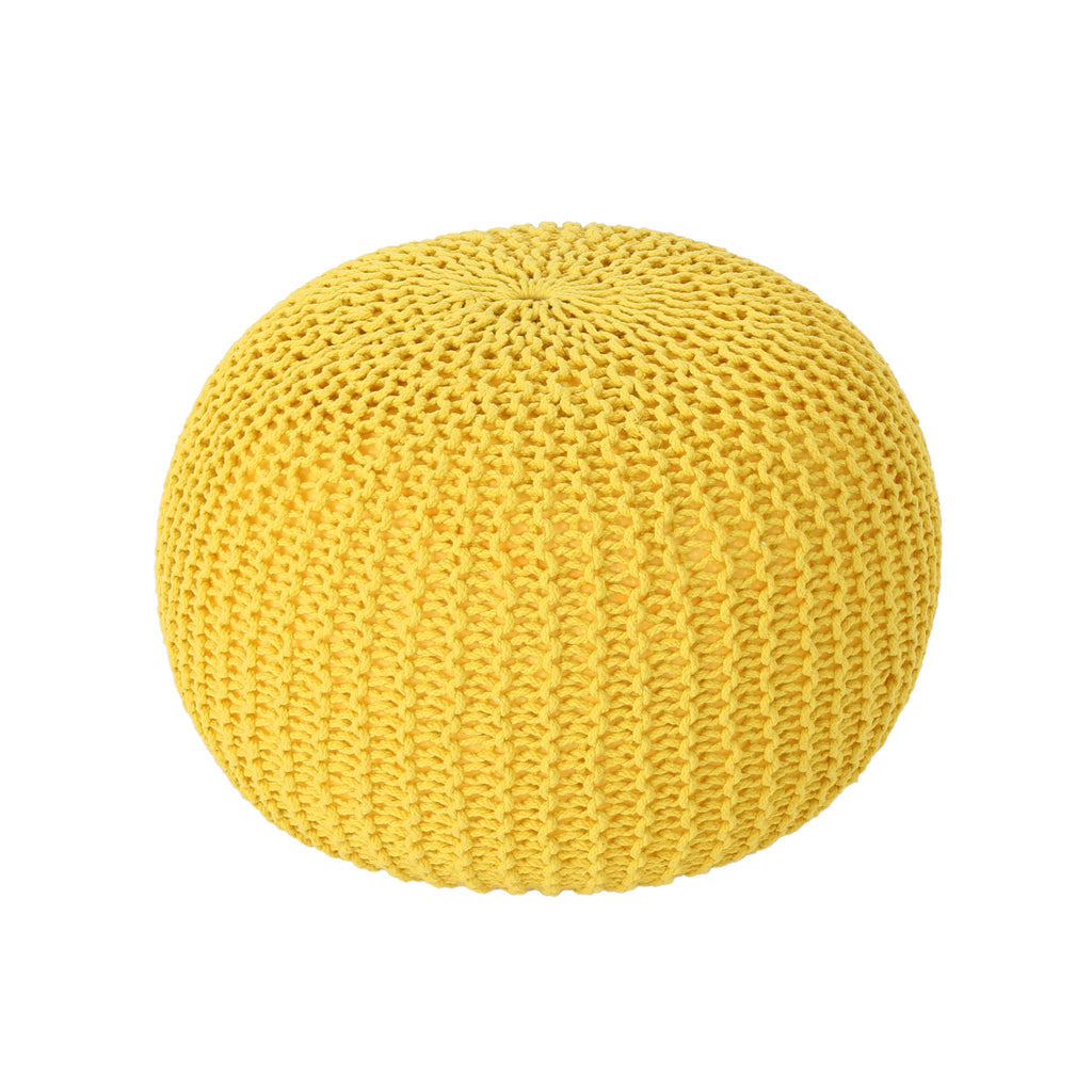 Abena Knitted Cotton Pouf