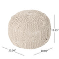 Anouk Knitted Cotton Pouf