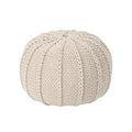 Corisande Knitted Cotton Pouf