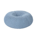 Everett Knitted Cotton Donut Pouf